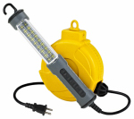 Alert Stamping & Mfg 920LSM 18-LED Work Light, Retractable, 20-Ft. Cord Reel