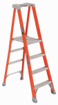 Louisville Ladder FXP1704 Step Ladder, Type 1A, 4-Step, Fiberglass