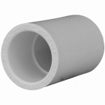 Genova Products 30105 PVC Pressure Pipe Fitting, Coupling, White PVC, 1/2-In.