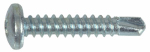 "Hillman Fasteners 47154 #8 x 3/4"" pan head, zinc coated, Phillips sheet metal screw"