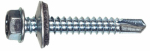 "Hillman Fasteners 47261 1LB, #12x1"" Hex Washer Head Zinc Self-Drilling Screw with Neoprene Washer"