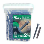 Itw Brands 21386 200PK12x2-3/4 Flat Screw