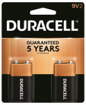 Duracell Distributing Nc MN1604B2Z Alkaline Batteries, 9V, 2-Pk.