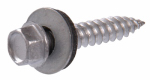 Hillman Fasteners 47705 Sheet Metal Self-Piercing Screws With Washer, Hex Head, Gray Ceramic Coated, 10 x 3-In., 1-Lb.