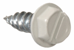 Hillman Fasteners 47711 Sheet Metal Self-Piercing Screws, Hex Head, Slotted Gutter, White, 7 x 1/2-In., 1-Lb.