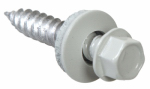 Hillman Fasteners 47727 Sheet Metal Self-Piercing Screws, Hex Head, White Ceramic Coat, 10 x 1.5-In, 1-Lb.
