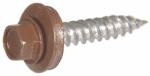 Hillman Fasteners 47736 Sheet Metal Self-Piercing Screws, Hex Head, Brown Ceramic Coat, 10 x 1.5-In, 1-Lb.