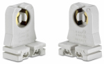 Leviton Mfg C20-13351-00W Fluorescent Lampholder, Low Profile, White, 660-Watt