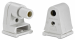 Leviton Mfg C20-31410-00W Fluorescent Lampholder, Slimline Base, White, 660-Watt, 2-Pk.