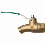 Arrowhead Brass & Plumbing 253BVLF No-Kink Ball Valve, Quarter Turn, Lead-Free, 1/2 FIP x 3/4-In. Hose Thread