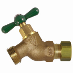 Arrowhead Brass & Plumbing 254CCLF No-Kink Straight Hose Bibb, Lead-Free, 1/2-In. Compression x 3/4-In. Hose Thread