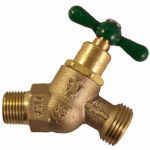 Arrowhead Brass & Plumbing 261LF No-Kink Hose Bibb With Vacuum Breaker, Lead-Free, 1/2 MIP x 3/4-In. Hose Thread