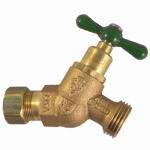 Arrowhead Brass & Plumbing 264CCLF No-Kink Hose Bibb With Vacuum Breaker, Lead-Free, 1/2 Copper Compression x 3/4-In. Hose Thread