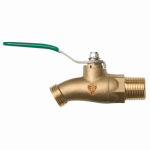Arrowhead Brass & Plumbing 351BVLF No-Kink Ball Valve, Lead-Free, 3/4 MIP x 3/4-In. Hose Thread