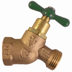 Arrowhead Brass & Plumbing 363LF No-Kink Hose Bibb With Vacuum Breaker, Lead-Free, 3/4 FIP x 3/4-In. Hose Thread