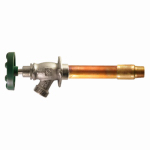 Arrowhead Brass & Plumbing 466-10QTLF Frost-Free Hydrant With Vacuum Breaker, Lead-Free, 1/2 Copper Sweat or 1/2 MIP x 3/4 Hose x 10-In.