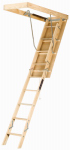 Louisville Ladder L254P Adjustable Wood Attic Ladder 250-Lb. Load Capacity