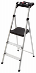 Tricam Industries RM-SLA3-T Aluminum Step Stool, 3-Steps, With Project Tray