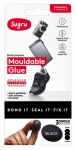 Sugru I000412 Moldable Glue, Single Use, Black, 3-Pk.