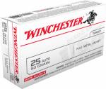 Winchester Ammunition Q4203 50RND 25 Auto PSTL Ammo