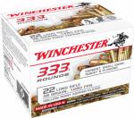 Winchester Ammunition 22LR333HP 333 Round .22 Long Rifle Rimfire Ammunition, Hollow Point