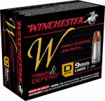 Winchester Ammunition W9MMD 20RND 9mm Lug PSTL Ammo