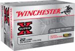 Winchester Ammunition X22LRCBMA Super X .22 Long Rimfire Ammunition, 29-Grain, 50-Ct.