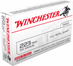 Winchester Ammunition USA223R1 .233 Remington Centerfire Rifle Ammunition, 20-Ct.