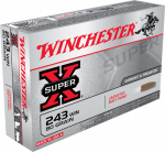 Winchester Ammunition X2431 20RND 243 Win RFL Ammo