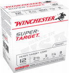 Winchester Ammunition TRGT12M8 Ammunition, Super Target Heavy Load, 12-Ga., 2.75-In., 25-Rounds