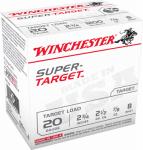 Winchester Ammunition TRGT208 25RND 20GA 2-3/4#8 Ammo