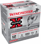 Winchester Ammunition WEX1232 Ammunition, Super-X Target Steel Shot, 12-Ga., 2-Shot, 3-In., 25-Rounds