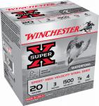 """Winchester Ammunition WEX2034 25RND 20GA 3"""" #4 Ammo"""