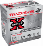Winchester Ammunition X124 Ammunition, Small Game Shotshell #4, 12-Ga., 2.75-In., 25-Rounds