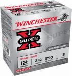 Winchester Ammunition XU128 Super X 12-Gauge Shotgun Shells, #8 Shot, 25-Ct.
