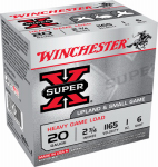 Winchester Ammunition XU20H6 Ammunition, Small Game Shotshell #6, 20-Ga., 2.75-In., 25-Rounds