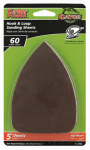 Ali Industries 3733 Detail Sanding Sheets, Aluminum Oxide, 60-Grit, 3.5 x 5-In., 5-Pk.