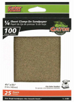 Ali Industries 5132 Sanding Sheets, Aluminum Oxide, 100-Grit, 4.5 x 5.5-In., 25-Pk.