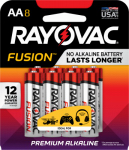 Spectrum/Rayovac 815-8TFUSK Fusion Advanced AA Alkaline Battery, 8-Pk.