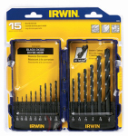 Irwin Industrial Tool 314015 15PC BLK Oxide Bit Set