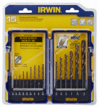 Irwin Industrial Tool 318015 Turbomax Drill Bits, 15-Pc.Set
