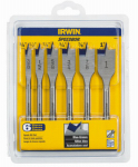 Irwin Industrial Tool 88886 6PC Speedb Flat Bit Set