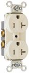 Pass & Seymour TR20LACC8 Duplex Receptacle, Tamper-Resistant, Light Almond, 20-Amp, 125-Volt