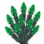 Noma/Inliten-Import 47714-88A Christmas LED Light Set, C3, Green, 70-Ct.