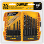 Dewalt Accessories DW1177 Metal Drill Bit Set, Black Oxide, 20-Pc.