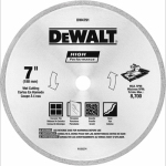 Dewalt Accessories DW4791 Diamond Matrix Tile Blade, 7-In. x .060-In.