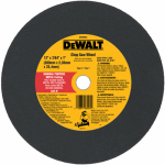 Dewalt Accessories DW8004 Cutting Wheel, General Purpose, 12-In. x 7/64-In. x 1-In.