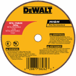 Dewalt Accessories DW8706 Small Diameter Cutoff Wheel, 3 x .035 x 3/8-In.