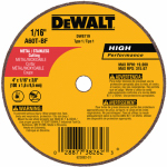 Dewalt Accessories DW8719 Small Diameter Cutoff Wheel, 4 x 1/16  x 3/8-In.
