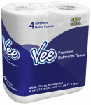 Oasis Brands 21112 Vee 4 pack Bathroom Tissue 175 - 2 ply sheets  per roll
